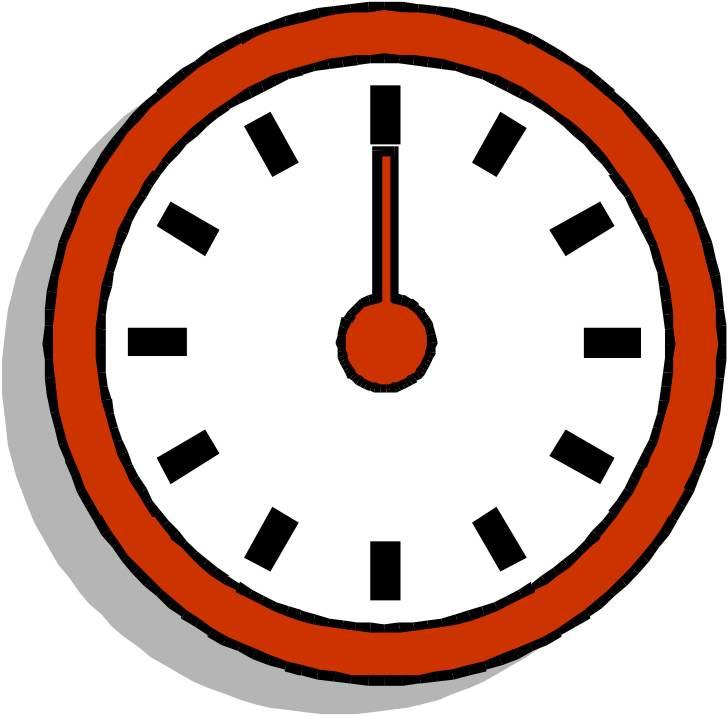 Clock face twelve o'clock
