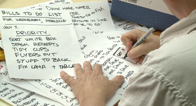 Photo of Rick Writing a To Do List