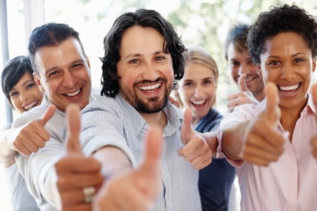 Photo of a Group Giving Thumbs Up