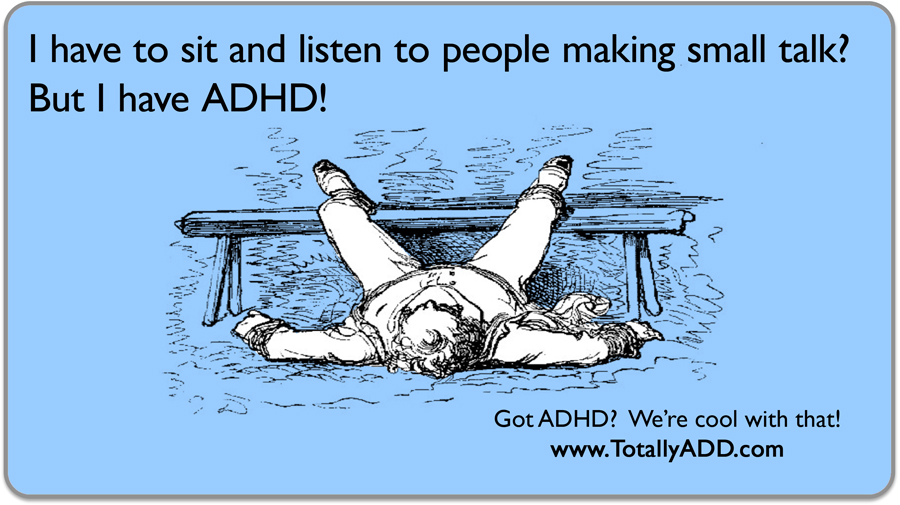 ADHD Meme about small talk