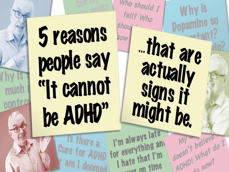 5 reasons I don't have ADHD video thumbnail