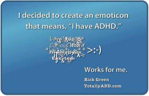 Emoticon of ADHD