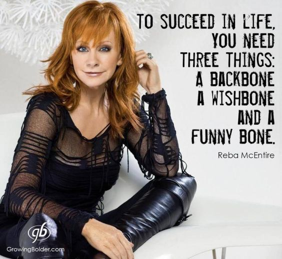To succeed at life you need 3 things a backbone a wishbone and a funny bone