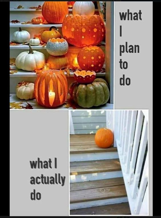 What I plan to do what I actually do Halloween meme