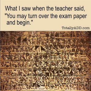 What I Saw When the teacher said turn over your exam paper (Egyptian Hieroglyphics)