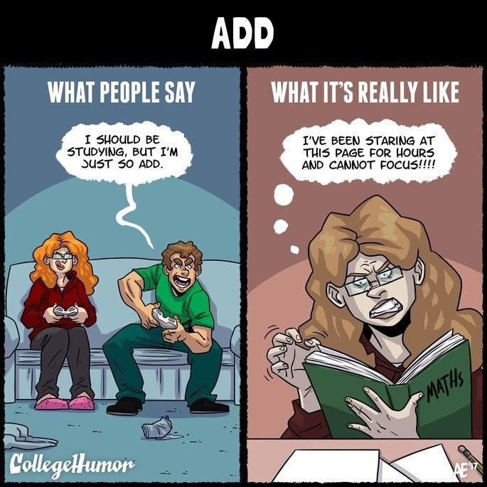 ADD College Meme