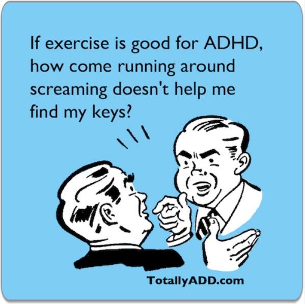 Is running around screaming exercise? meme