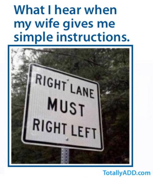 Right lane must right left funny sign