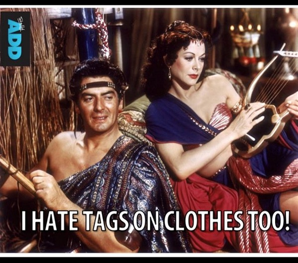 I hate tags on clothes too meme